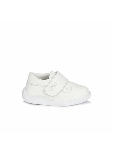 Vicco Vicco Bebe Deri Ayakkabı Beyaz